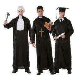 Déguisement prêtre, juge ou étudiant homme Déguisements 80371-