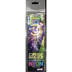 Cierge magique fluo numéro 5 Artifices SC25205