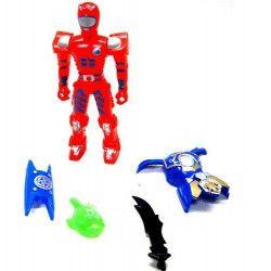 Figurine robot 11 cm avec accessoires vendue par 24 Jouets et articles kermesse 20098-LOT
