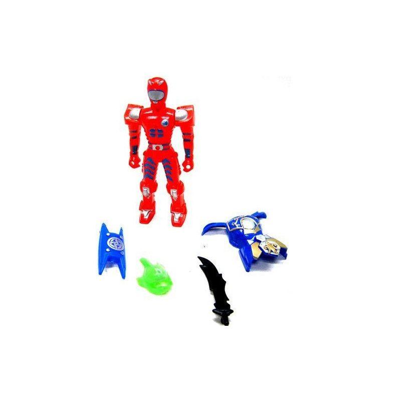 Figurine robot 11 cm avec accessoires vendue par 24 Jouets et kermesse 20098-LOT