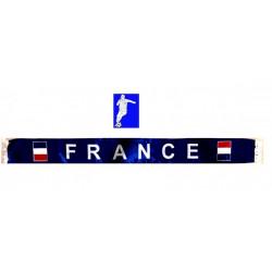 Echarpe satin supporter France 145 cm Déco festive 62272