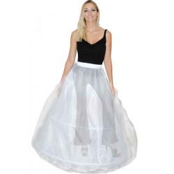 Jupon blanc femme avec 2 cerceaux Accessoires de fête CS925008