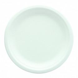Assiette ronde et blanche 25 pièces biodégradable - 18 cm Déco festive 2492BL