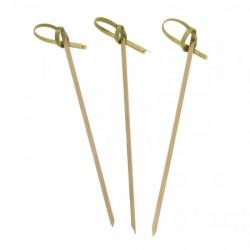 Pique apéritif en bambou 40 pièces - 10 cm Déco festive 2505NA