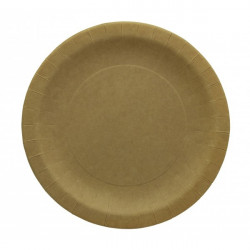Assiette carton kraft ronde 10 pièces - 23 cm Déco festive 868NA