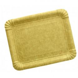 Plateau de présentation carton kraft 5 pièces - 24 x 34 cm Déco festive 3031NA