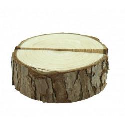 Marque-place rondin de bois 5.5 cm Déco festive 2140NA