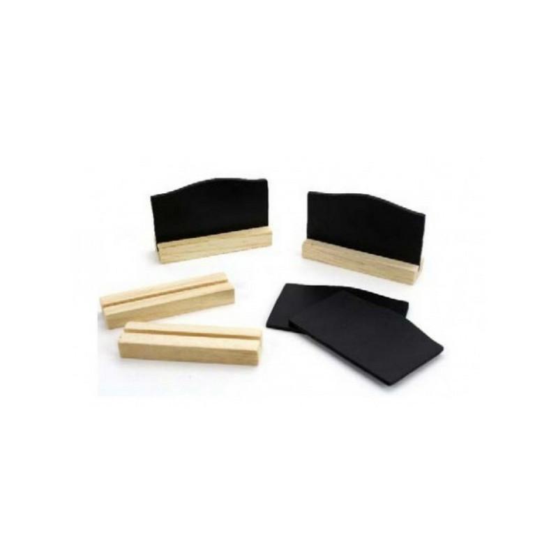 Marque-place ardoise noire x 4 pièces Déco festive 454NA