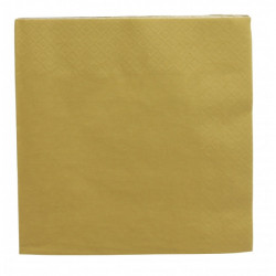 Lot 20 serviettes papier doré 33 x 33 cm Déco festive 916OR