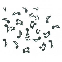 Confettis notes de musique noires - 18 grammes Déco festive 810NO