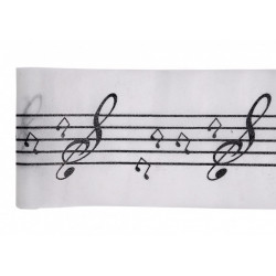 Chemin de table intissé notes de musique - 5 m Déco festive 768NO