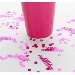 Confettis Joyeux Anniversaire 18 gr - rose Déco festive 185RO