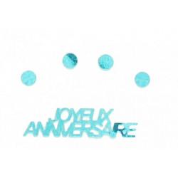 Confettis Joyeux Anniversaire 18 gr - bleu Déco festive 185BE