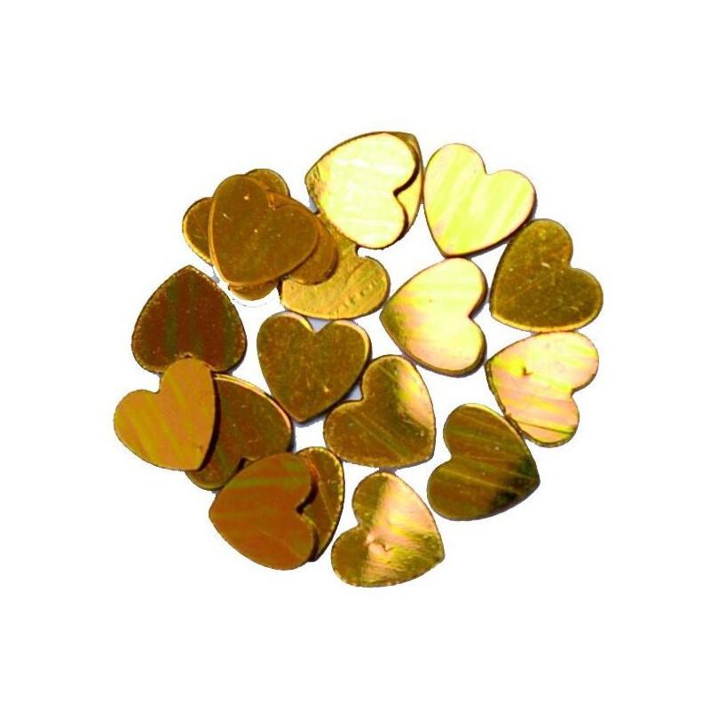Confettis coeur 18 gr - or Déco festive 284OR
