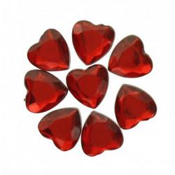 Coeur strass x 50 pièces - rouge Déco festive 419RG