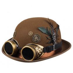 Chapeau steampunk marron homme Accessoires de fête 54548