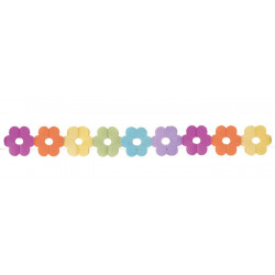 Guirlande papier fleurs multicolores 3.6 m Déco festive 10710