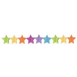Guirlande papier étoiles multicolores 3.6 m Déco festive 10264