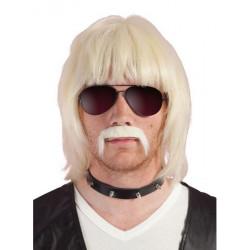 Perruque et moustache Bobby - Blonde Accessoires de fête 51920