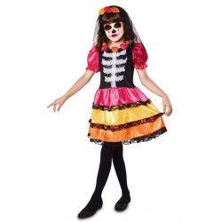 Déguisement squelette Catrina fille 5-6 ans Déguisements 203174