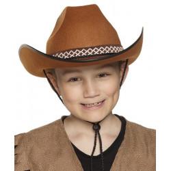 Chapeau cowboy enfant - marron Accessoires de fête 54370