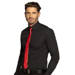 Cravate rouge brillant 50 cm Accessoires de fête 52967