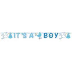 Guirlande naissance lettres bleues garçon - It's a boy Déco festive 63632