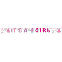 Guirlande naissance lettres roses fille - It's a girl Déco festive 63652