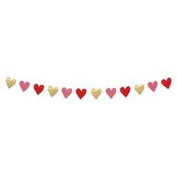 Guirlande coeurs love 2 m Déco festive 48004
