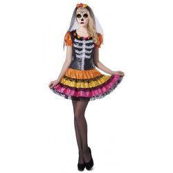 Déguisement squelette Catrina femme taille M-L Déguisements 203219