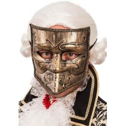 Masque vénitien plastique doré Accessoires de fête 00739