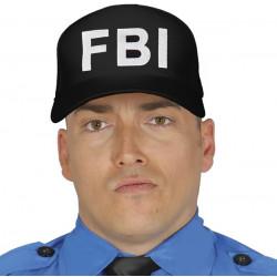 Casquette noire FBI adulte Accessoires de fête 13989