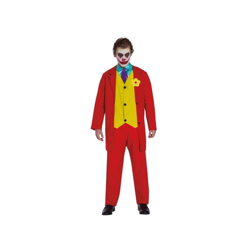 Déguisement bouffon rouge et jaune homme homme Déguisements 8879-