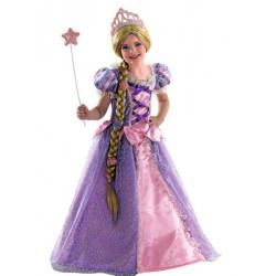 Déguisement princesse avec longue tresse blonde fille Déguisements 009-