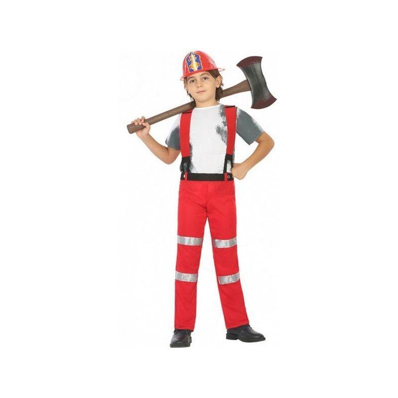 Déguisement pompier rouge enfant 5-6 ans Déguisements 20430