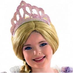 Diadème sequin rose de princesse Accessoires de fête 71364