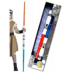 Double épée spatiale sonore et lumineuse 128 cm Accessoires de fête 72164
