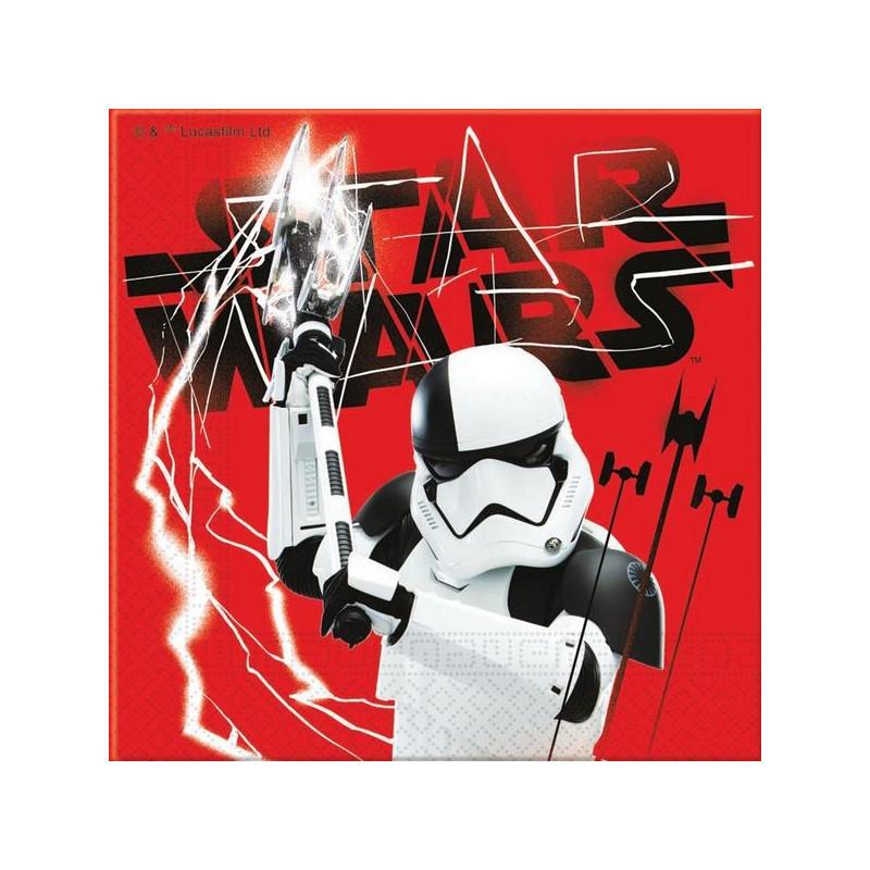 Serviettes papier x 20 The Last Jedi™ 33 x 33 cm Déco festive LSWA88551