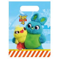 Sacs cadeaux plastique Toy Story 4™ x 6 Déco festive LTOY90233