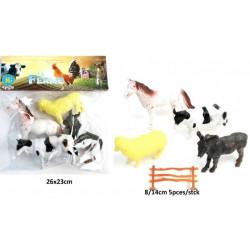 Sachet 4 animaux de la ferme 8 à 14 cm Jouets et articles kermesse 12345