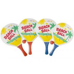 Raquettes beach ball avec 1 balle Jouets et kermesse 5135LG