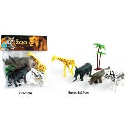 Sachet 4 animaux du zoo 9 à 14 cm Jouets et articles kermesse 11256