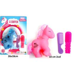Petit poney à coiffer 10 cm avec accessoires Jouets et kermesse 12291BG