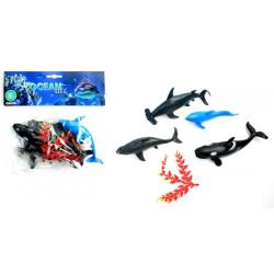Sachet 4 animaux de la mer 14 à 17 cm Jouets et articles kermesse 13762