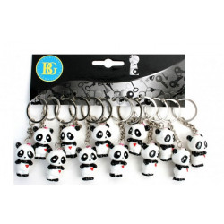 Porte-clés panda 3.5 cm vendu par 12 Jouets et articles kermesse 18187-LOT
