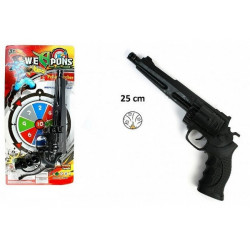 Pistolet bruiteur police 25 cm Jouets et kermesse 26236