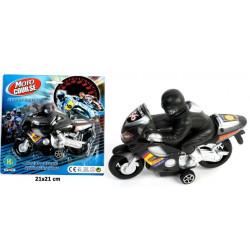 Moto avec pilote plastique rétrofriction 15 cm Jouets et articles kermesse 43127