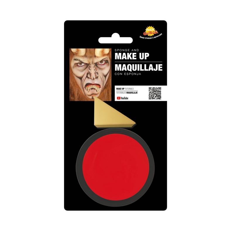 Maquillage rouge avec éponge Accessoires de fête 15620GUIRCA
