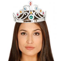Couronne de reine argent Accessoires de fête 16106