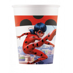 Gobelets carton x 8 Miraculous Ladybug™ 20 cl Déco festive LMIR91345